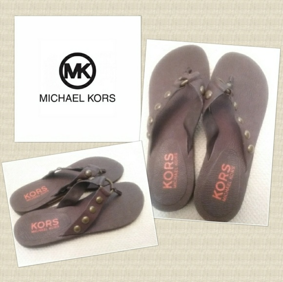 42daa5470a7f Michael Kors Sz. 8 Leather Rubber Jet Set Sandals.  M 5a88ff48739d48f0cc02558e